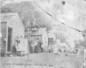 Camp houses at 'Sulpher Springs'