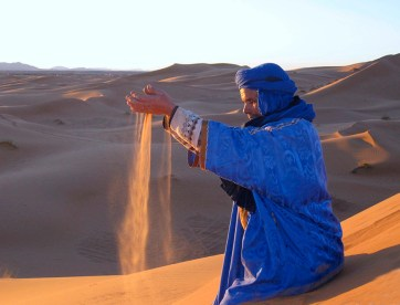 Ahmed in the Sahara