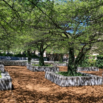 Garden at the Art Institute Chicago