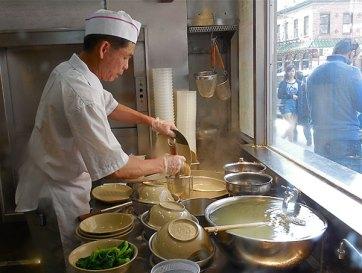 Soup kitchen, Chinatown New York