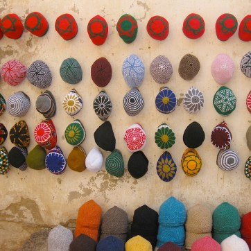Wall of hats - Morocco