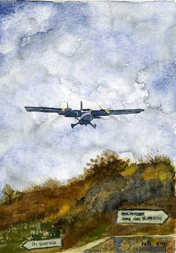Flight to St. Barth