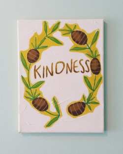Kindness. Acrylic. 9x12