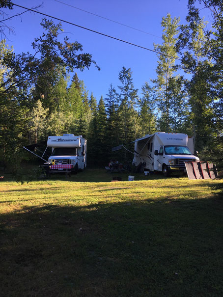 Camping with trailers