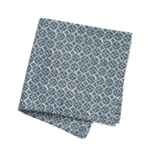 Pocket square in Two toned monochromatic blue pattern