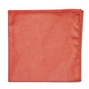 large Salmon pink cotton pocket square