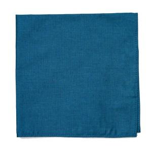 large Smoke blue cotton pocket square