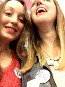 Attempting to take a picture of our Hub Sing buttons