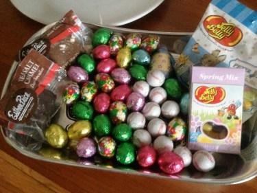 Came back home to an Easter package from Lolo!