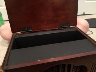 Wedding card box fit for my radio fanatic.