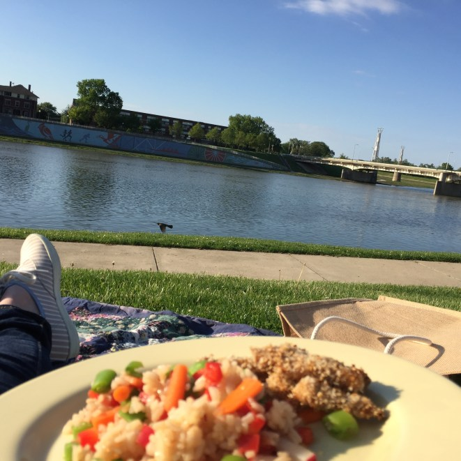 Picnics at Dayton's Riverscape are basically the best.