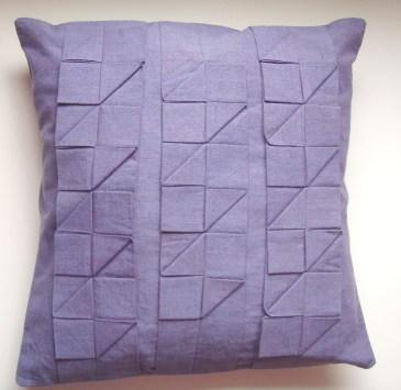 Pleated cushion pattern