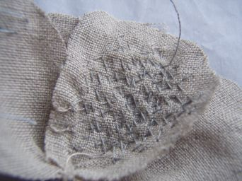 Embroidered petals