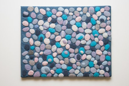Blue pebbles panel