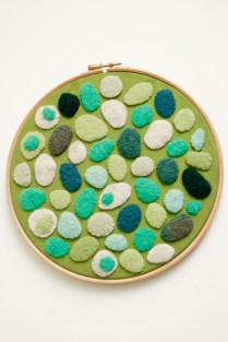 Green pebble hoop (sold)
