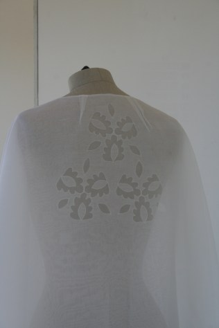 7. cutwork silk cape