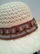 Pleated ribbon hat trim