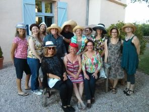 Lovely students wearing fabulous hats on the last day!