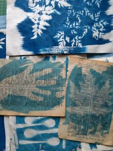 Cyanotype workshop with Hannah Lamb (photo by Ruth Singer)