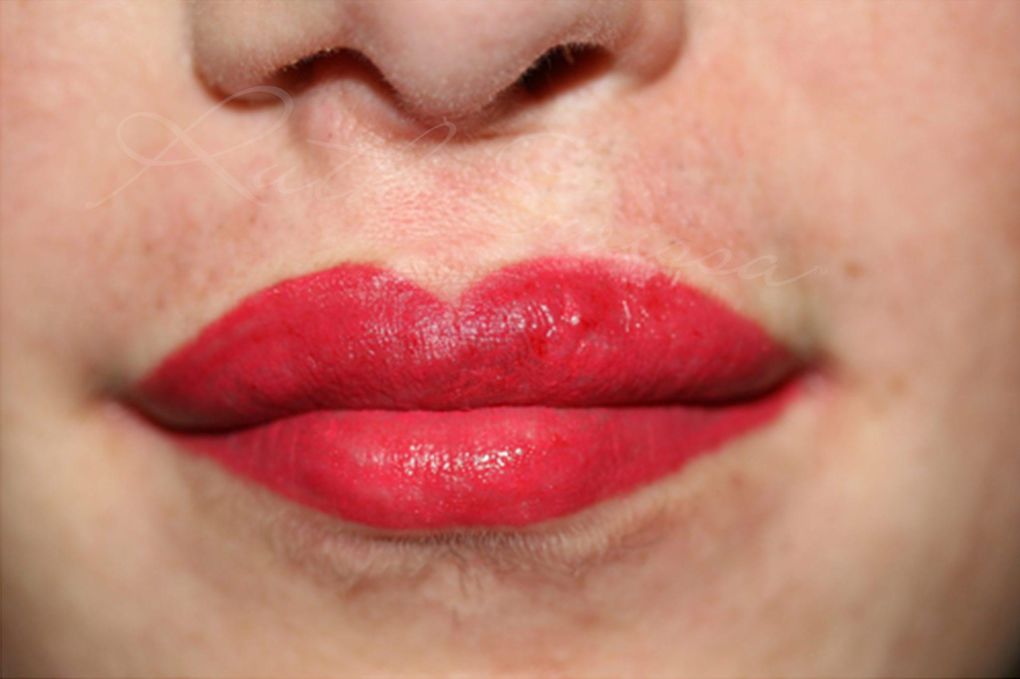 Corrective Makeup And After