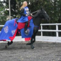 Ruth Tolkien horse riding in Cornwall