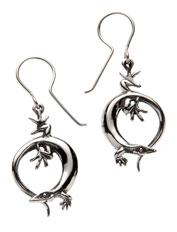 Lizard ear-rings