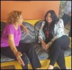 Vicealcaldesa Valentina Cruz realiza visita de cortesía a dirigente Felipa Gómez con motivo al Día de las Madres