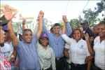 Francisco Peña realiza caminata de Cierre de campaña en SDO.