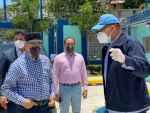 Presidente Danilo Medina supervisa funcionamiento de Estación de Bombeo La Zurza principal componente de la Depuradora del Río Ozama en visita sorpresa