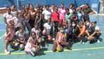 La regidora Arlette Almonte, realizo una visita de cortesía al equipo de voleibol femenino las Faraonas.