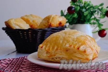 Пирожки из слоеного теста рецепты с фото от наших