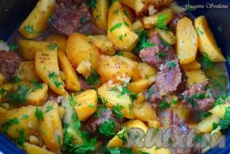 Жаркое из говядины с картошкой в мультиварке - 11 ...