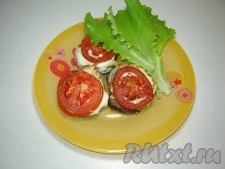 Баклажаны запеченные с помидорами. Простая закуска из ...