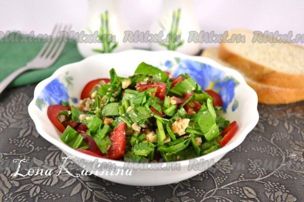 Рецепт салата из щавеля - 5 пошаговых фото в рецепте