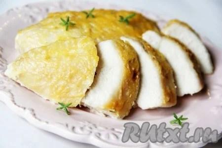 Куриная грудка, запечённая в сливках под сыром - рецепт с фото