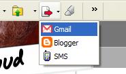 Google toobar Send to Gmail menu