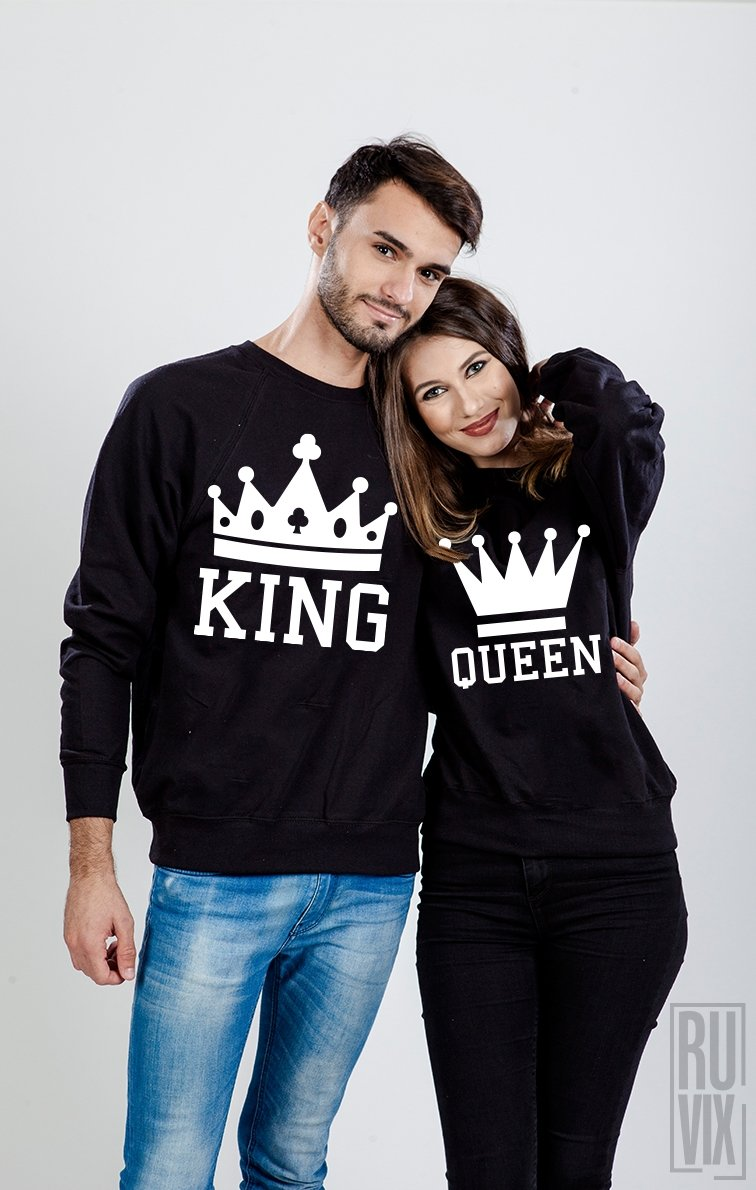 We may earn commission on some of the items you choose to buy. Set Sweatshirt King și Queen