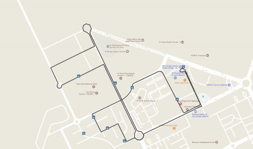 Ruwais Bus Network