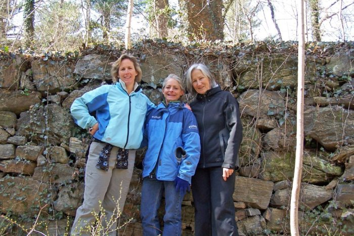 At the ruins of the Bowen Mill on the Towson Run