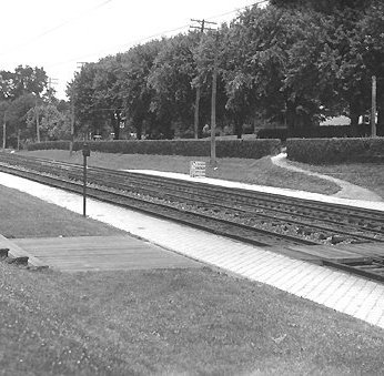 Looking north from the Ruxton railroad station