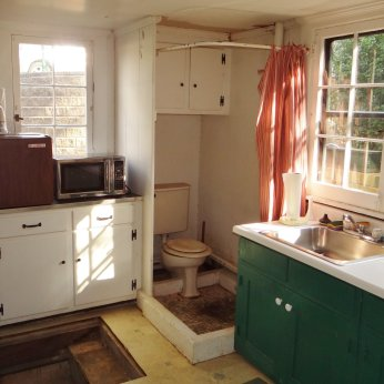 Rider House kitchen: Before