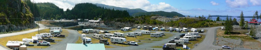 Incredible panoramic photo of Telegraph Cove RV Park