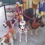 dogs created from legos in legoland florida