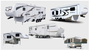non motorized rv and towable rv types