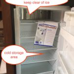 Jayco travel trailer refrigerator - inside view