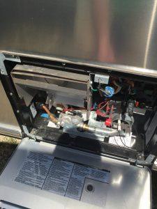 Airstream International Hot Water Heater Cover Open