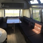 Airstream International Interior View From Bedroom to Dining