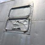 1952 Royal Spartanette Before ANY Restoration Work - Rear drivers side window pair 5