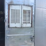 1952 Royal Spartanette Before ANY Restoration Work - Exterior door wide open