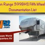 Open Range 399BHS Fifth Wheel RV Documentation List